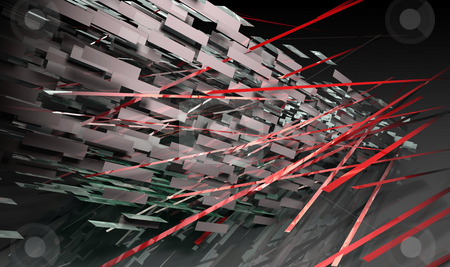 Futuristic Lines stock photo, Futuristic Lines Background in 3d Art Form by Kheng Ho Toh