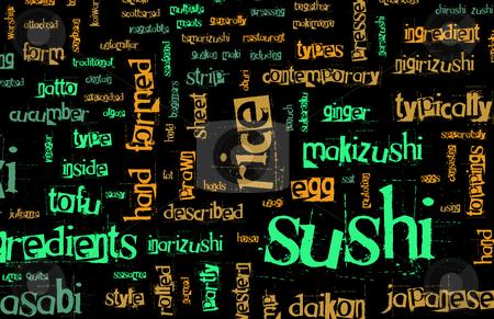 Sushi Menu stock photo, Sushi Menu Background for Japanese Food Meal by Kheng Ho Toh