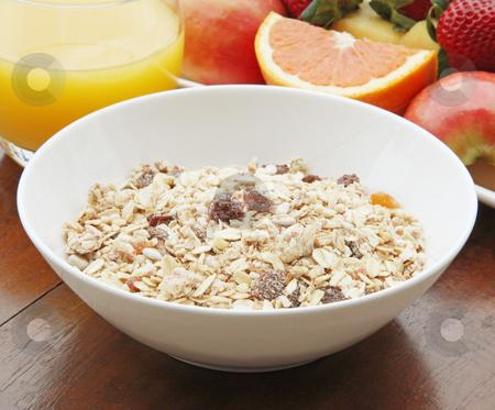 Healthy Breakfast stock photo, Low Fat Healthy Breakfast Muesli with Fruit by Kheng Ho Toh