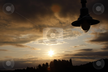 Sun on - bulb off stock photo, Dawn by shufu