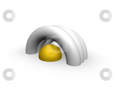 Abstract installation stock photo, Abstract installation on white background - 3d illustration by J?
