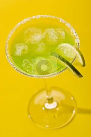 Tropical cocktail stock photo, Food series: cold lime cocktail with ice by Gennady Kravetsky