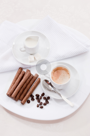 Morning coffee stock photo,  by Gennady Kravetsky