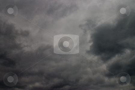 Cloudy sky  stock photo, Nature seris: heavy dark clouds in the sky by Gennady Kravetsky
