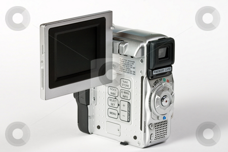 Video camera stock photo, Object series: digital video camera over white by Gennady Kravetsky