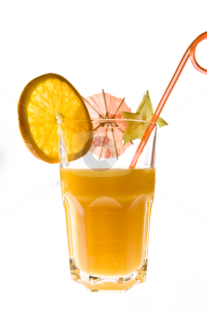Orange stock photo, Drink series: orange juice with alcohol, mix cocktail by Gennady Kravetsky
