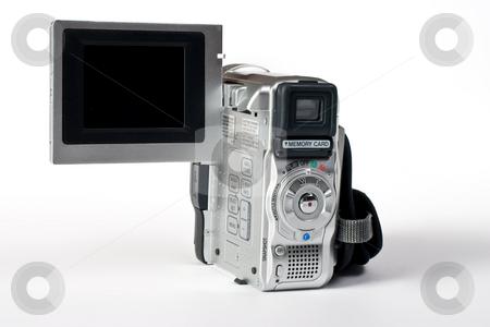 Video camera stock photo, Object series: digital video camera over white by Gennady Kravetsky