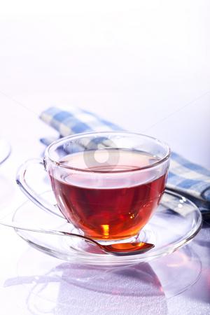 Tea stock photo, Drink series: cup of tea, top view by Gennady Kravetsky