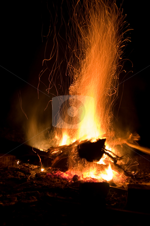 Flame stock photo, Abstract series: fire on a black background by Gennady Kravetsky