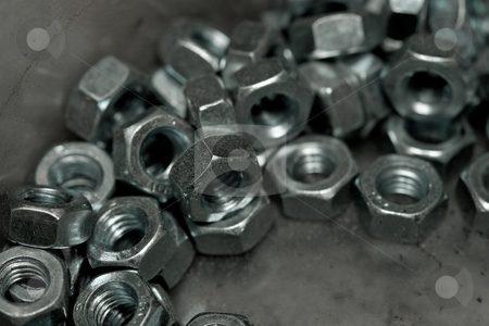 Screw stock photo, Tool series: macro picture of many screws by Gennady Kravetsky