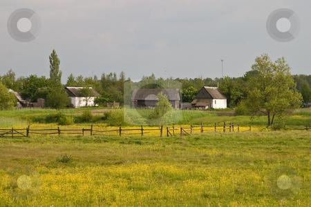 Village stock photo, View series: old village landscape in spring season by Gennady Kravetsky
