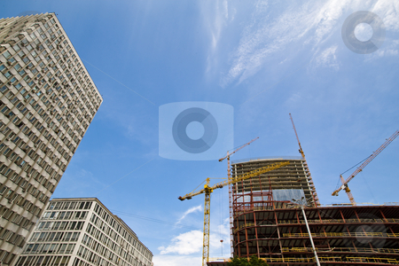 Bulding stock photo, Construction series: new site of a modern building by Gennady Kravetsky
