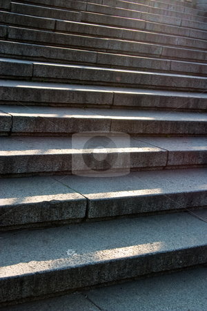 Stair stock photo, City series: elemets of old stone stair by Gennady Kravetsky