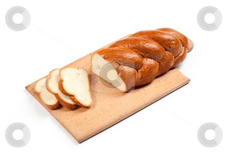 Bread stock photo, Food series: white bread over white background by Gennady Kravetsky
