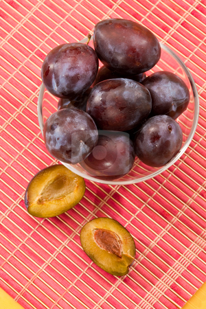 Fresh plum stock photo, Food series: fresh ripe and tasty plum by Gennady Kravetsky