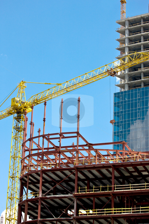 Under construction stock photo, City series: new modern building under construction by Gennady Kravetsky
