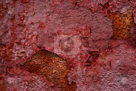Rusty texture stock photo, Rusty grunge texture, background of old red wall by Gennady Kravetsky