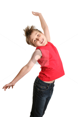 Love Life stock photo, Boy full of life, jumping into the air by Leah-Anne Thompson