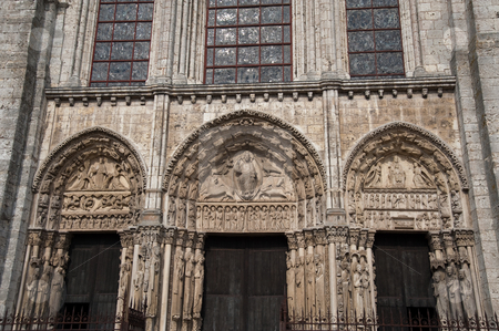 Chartres cathedral  stock photo, Cathedral of Our Lady of Chartres by Jaime Pharr