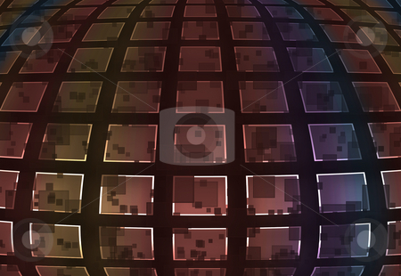 Big squares mosaic stock photo, Abstract background mosaic of big squares in various colours by Milos Pavlovsky