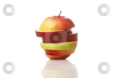 Apple stock photo, An apple mix of different apples, isolated on white background by Alexander Zschach