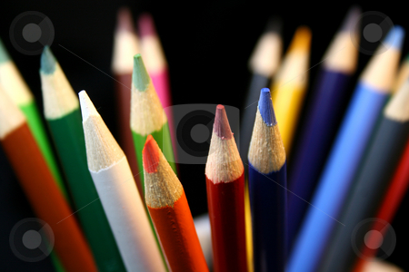 Colored Pencils stock photo, A variety of colored pencils by Candace Beckwith