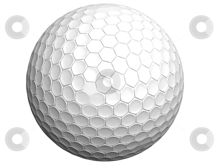 3D rendered golf stock photo, High resolution 3D rendered golf ball isolated on white (created in autodesk 3dsmax studio) by Gowtum Bachoo