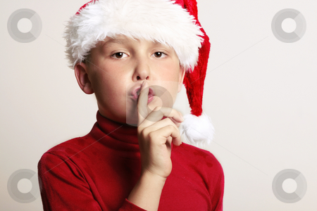 Children - Silent Night Holy Night stock photo, Shhhhhh -  Twas the night before Christmas and alll through the house, not a creature was stirring, not even a mouse. by Leah-Anne Thompson