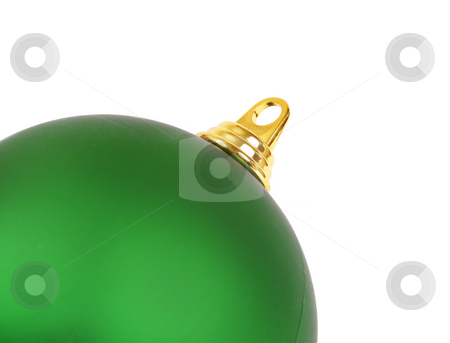 Christmas Ball stock photo, A Christmas ball angled on white by Leah-Anne Thompson