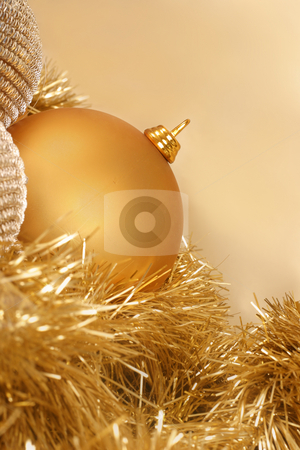 BAUBLE stock photo, Christmas balls and tinsel by Leah-Anne Thompson