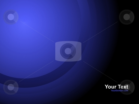 Business Card Blue stock photo, Blue Business Card with a radial gradient by Henrik Lehnerer
