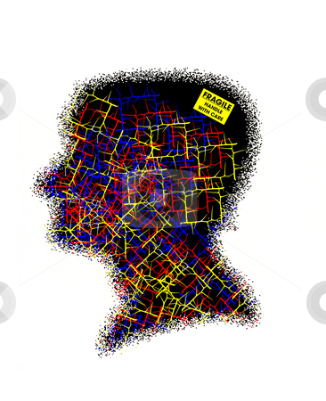 Fragile Mind concept illustration stock photo,  by W. Paul Thomas