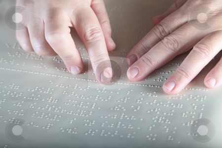 Method Braille stock photo, Method Braille - For blind people by Portokalis