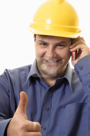 Good Job stock photo, Construction worker, tradesman etc. with the thumbs up approval by Leah-Anne Thompson
