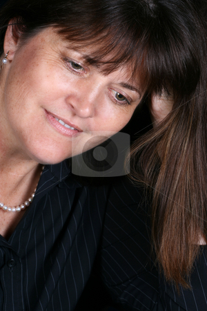Mature Female stock photo, Beautiful mature brunette female in executive attire by Vanessa Van Rensburg