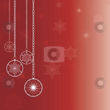 Merry christmas card stock vector clipart, Christmas cards, decorations on a red background, vector by Čerešňák
