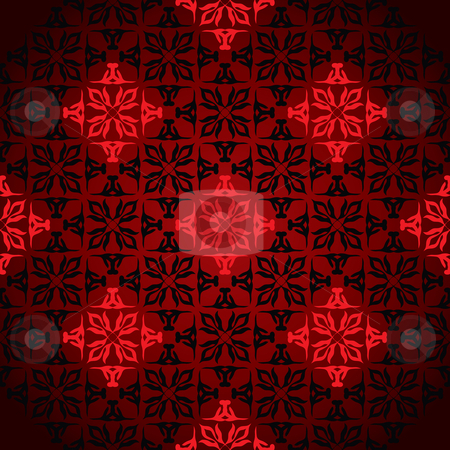 Diamond wallpaper stock vector clipart, Diamond wallpaper background design with seamless pattern in red by Michael Travers