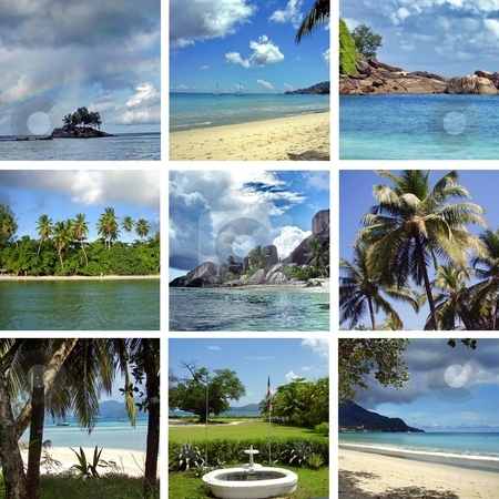 Collage Seychelles stock photo, Collage Seychelles by Sergey Gorodenskiy
