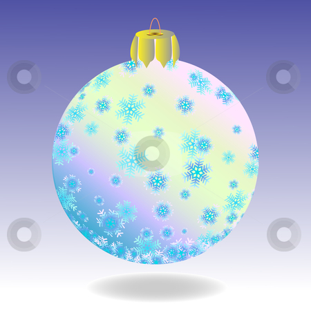 Fur-tree ball stock vector clipart, Striped fur-tree ball with snowflakes on a violet background. by Liubov Nazarova