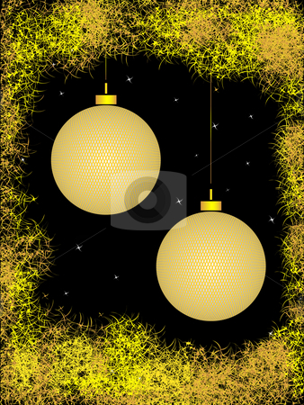 Golden sphere stock photo, Gold spheres with pattern in abstrakt framework on black background by Alina Starchenko