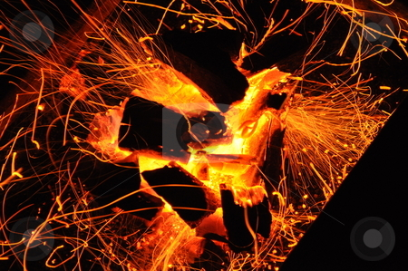 Fire and Flame 3 stock photo, An old way to warmth used in the 19th century by Tony Abdou