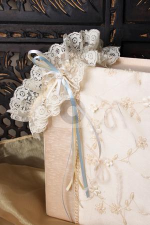 Jewellery Box and Garter stock photo, Cream Colored Jewellery box and bridal garter by Vanessa Van Rensburg