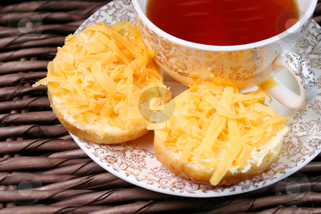 Early Morning Tea stock photo, Early Moring Tea with scones and cheese by Vanessa Van Rensburg