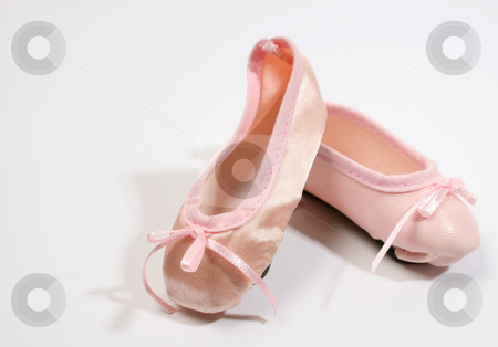 Ballet Shoes stock photo, One Leather and one satin ballet shoe by Vanessa Van Rensburg