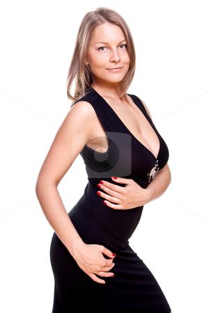 Beautiful women in a dress stock photo, Beautiful women in a dress on a white background isolated by Artem Zamula
