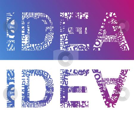 IDEA typographic stock photo, Typographic illustration of word IDEA by Mile Atanasov
