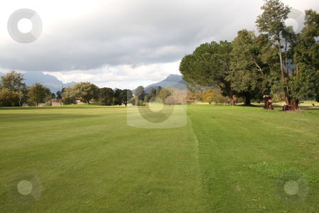 Courses stock photo, Golf Course in Stellenbosch in South Africa during the rainy season by Vanessa Van Rensburg
