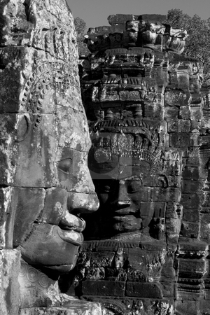 Angkor temple ruins  stock photo, Shot at a temple in Angkor, Cambodia by Kjersti Jorgensen