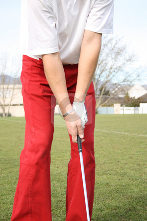 Golf Grip stock photo, Golf Grip of golfer on range during practise by Vanessa Van Rensburg