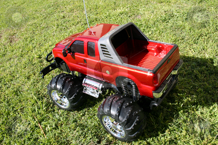 Big Toy Car stock photo, Red Radio controlled scale model car by Vanessa Van Rensburg